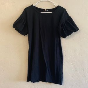 Rolla Coster Black Puff Sleeve Tee Shirt Dress S